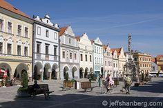 The main square in Třeboň (Masarykovo náměstí). Square Photos, Czech Republic, Maine, Street View, Bohemia