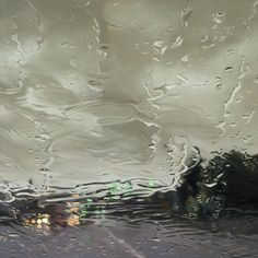 Artwork by GREGORY THIELKER - Hyperrealistic Oil Paintings Looking Through Rainy Windshields