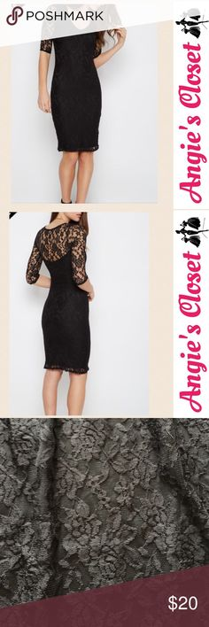 """Black lace bodycon dress NWT black lace bodycon dress. Bust: 32"""" Waist: 27"""" 🚫No Trades  ✅Bundle Discount  ✅Custom Bundles  ✅Fast Shipping  ✳️Please use the """"Offer"""" button instead of trying to negotiate in the comments. Thank you 😊💗 Dresses Midi"""