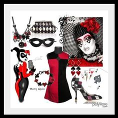 dress Joker And Harley, Harley Quinn, Spandex, Costumes, Halloween, Dress, Dresses, Dress Up Clothes, Harley Quin