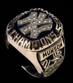 New York Yankees World Championship Ring.  Munson's ring.  Thurman Munson.  Fantastic catcher.  One of the more valuable baseball cards I own.