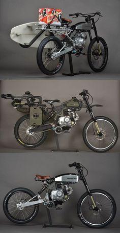 Motoped - Mountain Bike Meets Moped: