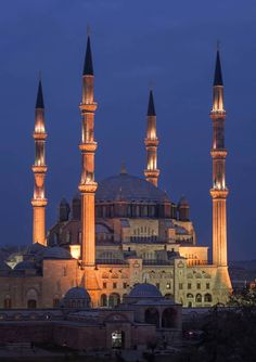 Selimiye Mosque and its Social Complex built by Sinan the Architecht in 16 century is one of the wonders of Turkey in UNESCO's World Heritage List.