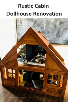 1:12th Escala Miniatura Casa De Muñecas Moderna Niños Madera Taburete Woodland Animales