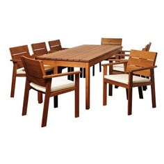 Sol 72 Outdoor Brighton 9 Piece Dining Set with Cushions Outdoor Dining Set, Patio Dining, Outdoor Tables, Outdoor Furniture Sets, Dining Table, Dining Chairs, Side Chairs, Outdoor Decor, 3 Piece Bistro Set