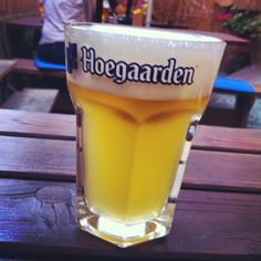 My favorite beer in summer. Hoegaarden in Male Divy restarant, Prague 7. So fresh!!)