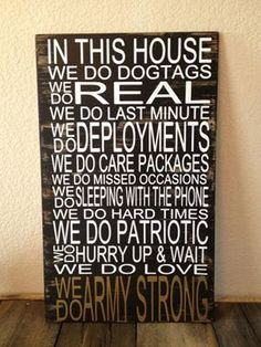 Military Family Rules by Kreationsbykellyr on Etsy, $40.00