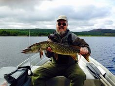 A first for this American Guest. Fly fishing for Pike in Scotland paid off.