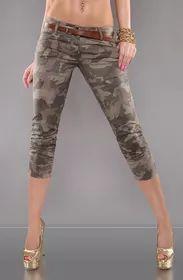 Army dámské kalhoty s páskem Capri Pants, Fashion, Moda, Capri Trousers, Fashion Styles, Fasion