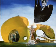 "Naissance des Désirs Liquides (Birth of Liquid Desires) by Salvador Dalí, 1932. Oil and collage on canvas, 96.1 x 112.3 cm (37.83 x 44.21"") 