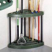 Miles Kimball corner garden tool rack offers stand-up storage, keeping tools organized. With 20 slots, the tool rack organizer holds rakes, brooms and more. Garage Tool Storage, Garage Shed, Corner Storage, Garage Tools, Shed Storage, Corner Rack, Storage Racks, Storage Room, Yard Tool Storage Ideas
