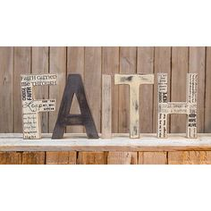 Our FAITH letters are a perfect accent to your primitive decor. They are free standing and go with other decor from Primitive Star Quilt Shop. https://www.primitivestarquiltshop.com/collections/wood-signs/products/faith-letters #primitivefarmhousedecor