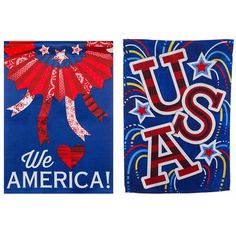 Love America Double Sided Double Sided Garden Flag