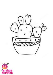 PATRONES BORDADO MEXICANO: CACTUS. - MOMOVIPRO 💙 Mexican Embroidery, Embroidery Patterns, Cactus Embroidery, Fun Crafts For Kids, Arts And Crafts, Peyote Stitch, Cross Stitch, Halloween Ribbon, Punch Needle