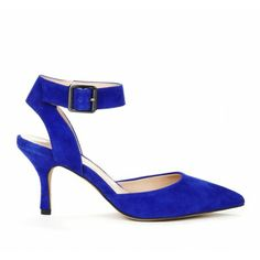 D'Orsay heels - Pointed toe mid heel with adjustable ankle buckle detail.