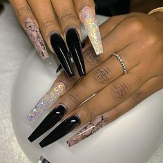 Drip Nails, Glow Nails, Bling Acrylic Nails, Best Acrylic Nails, Long Nail Designs, Acrylic Nail Designs, Tapered Square Nails, Sculptured Nails, Luxury Nails