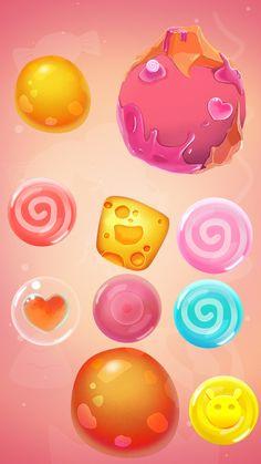 Game Gui, Game Icon, Game Concept, Concept Art, 2d Game Art, Game Ui Design, Web Design, Game Props, Game Interface