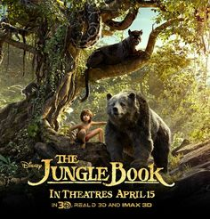 """Disney's new adaptation of Rudyard Kipling's classic """"The Jungle Book"""" comes out April 15th! Two words: Bill Murray!  http://www.jactionary.com/2016/02/upcoming-jungle-book-trailer.html"""
