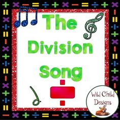 This fabulous freebie from Wild Child Designs includes a blues song about long division. Its lyrics identify the steps to long division. It also includes a silly mp4 video file to help with singing the song.