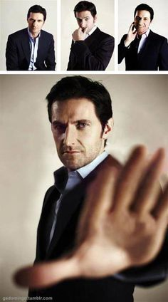"""Richard Armitage is saying, """"Stop staring."""" But I can't."""