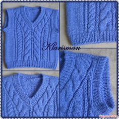 No good links for English, but Boys Knitting Patterns Free, Baby Sweater Knitting Pattern, Baby Patterns, Knitting Socks, Mens Vest Pattern, Rib Stitch Knitting, Knitted Baby Clothes, Knit Fashion, Baby Sweaters