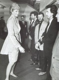 Princess Diana, Eric Clapton, Ringo Starr, George Harrison