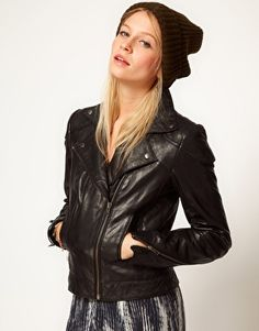 ASOS Leather Biker Jacket...In case anyone wants to buy me a birthday or Christmas present :)