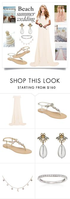 """""""Summer wedding at the beach"""" by colonae ❤ liked on Polyvore featuring self-portrait, Bella Belle, Gucci, Luna Skye and Henri Daussi"""