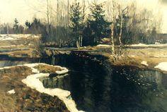 Bustling Spring Creek by Stanislav Yulianovich Zhukovsky ( Весенний бурлящий ручей | Жуковский, Станислав Юлианович )