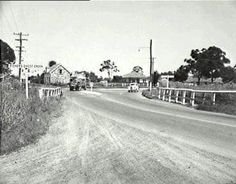 The end of Queen St in Campbelltown looking towards Emily's Cottage in the early 1950s.