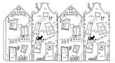 Новогодний домик своими руками - выкройки, инструкция