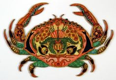 Buy Liberty Puzzles Crab, a beautifully detailed wooden jigsaw puzzle. This puzzle sized by and has 318 pieces, by Sue Coccia Animal Templates, Fish Creek, Wooden Jigsaw Puzzles, Animal Habitats, Underwater Creatures, Animal Totems, My Animal, Spirit Animal, Contemporary Artists