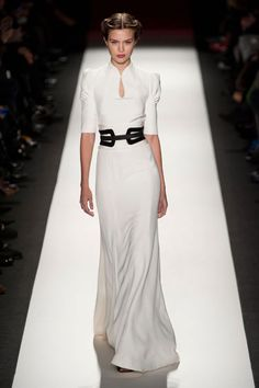 #blanc carolina herrera... Would look good as 20s style or art deco era magnificent with black detail