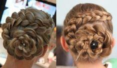 Dutch Braided Flower | Updo Hairstyles | Cute Girls Hairstyles