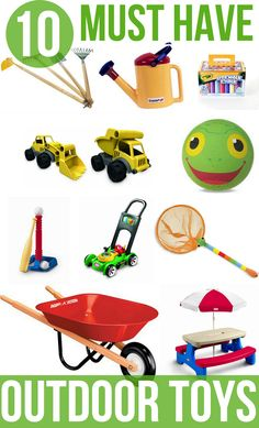 Must Have Toys for Outdoor Fun | Add to your kids outdoor playing with these must have toys for outdoor fun.