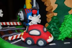 Gamma Susie's This n That: Thomas The Train Cake with Crossing Gates