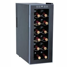 Sunpentown WC-1271 12-Bottle Thermo-Electric Slim Wine Cooler - Wine Coolers at Hayneedle