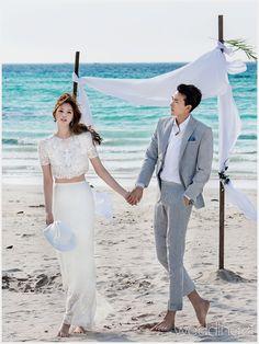 여름날,결혼을 앞둔 커플들을 위한 새로운 감각의 셀프웨딩 룩, 아비가일 1