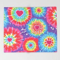 Love Tye Dye Throw Blanket