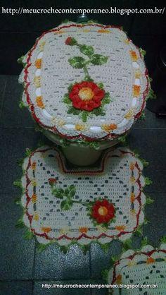 Jogo de Banheiro Juh Medina, capa do vaso, 2ª parte
