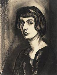 Charley Toorop (Dutch 1891-1955), Zelfportret. Collection Stedelijk Museum Alkmaar, Netherlands.