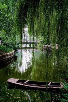 ♪♫ Lazy Afternoons in a Punt, on a Lake, beneath a Weeping Willow Tree . < from an anonymous source Beautiful World, Beautiful Gardens, Beautiful Places, Weeping Willow, Willow Tree, Nature Aesthetic, Garden Cottage, Beautiful Landscapes, Nature Photography