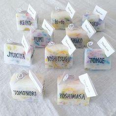 #artcandledaisy 結婚式後の食事会での#席札 を作らせて頂きました♪ ちょっとしたメッセージカードを添えられるようになっています(*^^*) . . . #wedding#ウェディング#座席表 #席次表