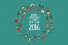 Christmas 25 Icons Set + Bonuses by Decorwith.me Shop on Creative Market