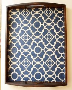 I love decoupage and simple crafts. Scrapbook paper, stained wood tray from your local craft store and some ModPodge. And wah-lah! Home Crafts, Fun Crafts, Diy Home Decor, Diy And Crafts, Simple Crafts, Upcycled Crafts, Crafty Craft, Crafty Projects, Diy Projects To Try
