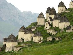 The city of the dead actually exists. It is a village in Ossetia, north of Russia, hidden between five mountain peaks. According to Russian legends, whoever goes to Dargavs never returns alive. The city rarely gets tourists...(because of) bad luck? Or because it is a very difficult place to get to.