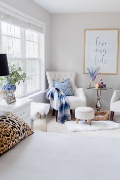 5 Easy Tips For A Cozy Master Bedroom Sitting Area - The Home I Create 5 tips on creating a cozy and welcoming seating area in your bedroom. Bedroom Nook, Bedroom Corner, Bedroom Layouts, Master Bedroom Design, Home Decor Bedroom, Bed Room, Bedroom Furniture, Master Suite, Cozy Master Bedroom Ideas