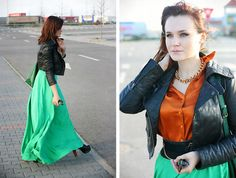 Red Leather, Leather Jacket, Outfit Ideas, My Favorite Things, Stylish, My Style, Skirts, Model, Jackets