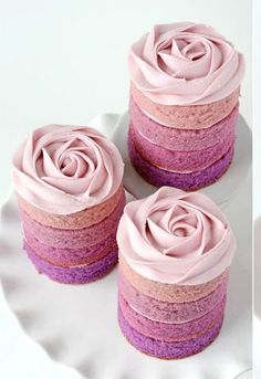 Ombre isn't just trending for hair. Check out these beautiful stacked cakes. Find out how it's done here!