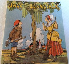 Vintage 1934 Jack and The Beanstalk Children's Book Illustrated by Eulalie